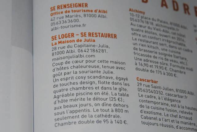 Article du Magazine Détours en France parlant de la maison de Julia.