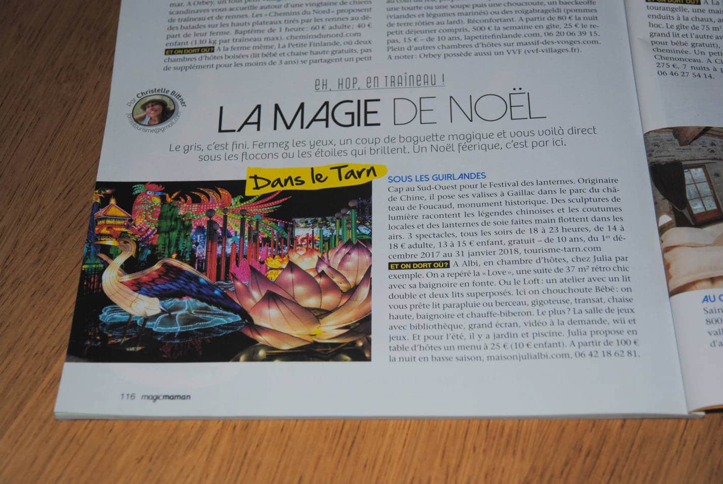 Article du Magazine Magic Maman parlant de la maison de Julia.